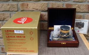 Leica-10050-Leica-R3-Gold-Kit-Summilux-1-4-50mm-Gold-034-Sammlerstueck-034-OVP