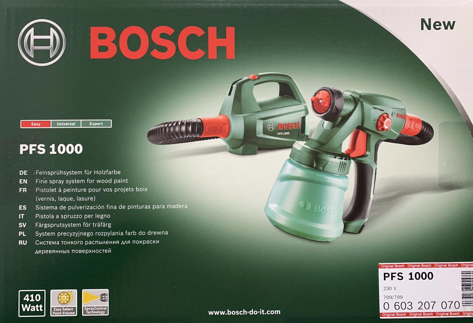 Bosch DIY PFS 1000 Elektro-Feinsprühsystem 603207070 NEU OVP Rechnung