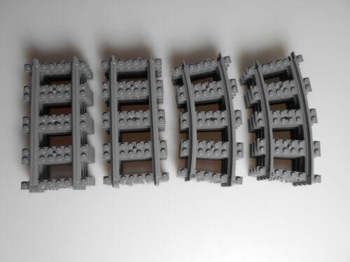 LEGO ® Chemin de Fer Accessoires RC RAILS 10x droites et courbes 10x 60198 NEUF