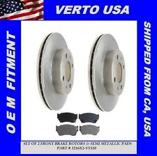 Set Of 2 Front Disc Brake Rotors & Semi Metallic Pads - Verto USA 3216X2-VS510