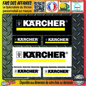 lot-6-Stickers-autocollant-KARCHER-bricolage-adhesif-sponsor-outillage-decal