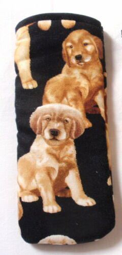 GO0LDEN RETRIEVER PUPPIES ALL OVER COTTON GLASSES CASE ideal small gift