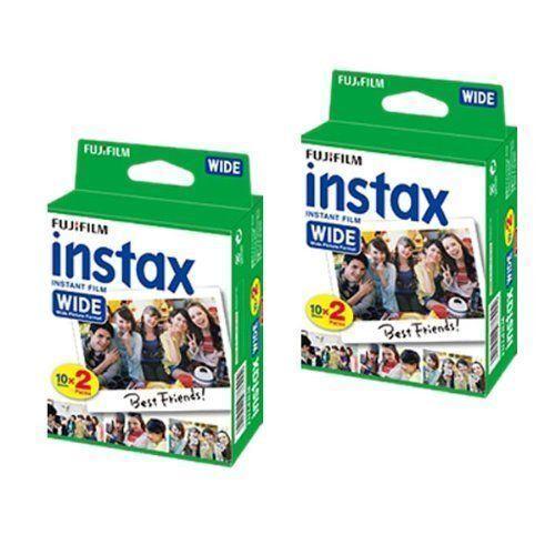 Efficace 2x 20 Fuji Instax Wide Film Pour Fujifilm Instant Caméras 210 200 100 (40 Photos) RéTréCissable