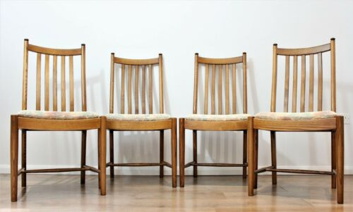 Quality Vintage Ercol Windsor Penn Dining chairs Solid Ash Golden Dawn Set of 4