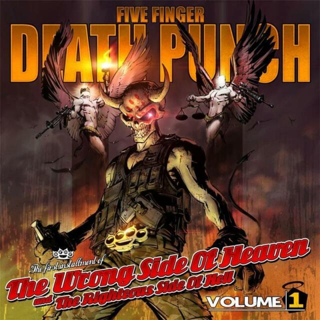 FIVE FINGER DEATH PUNCH WRONG SIDE OF HEAVEN Volume 1 CD NEW unsealed