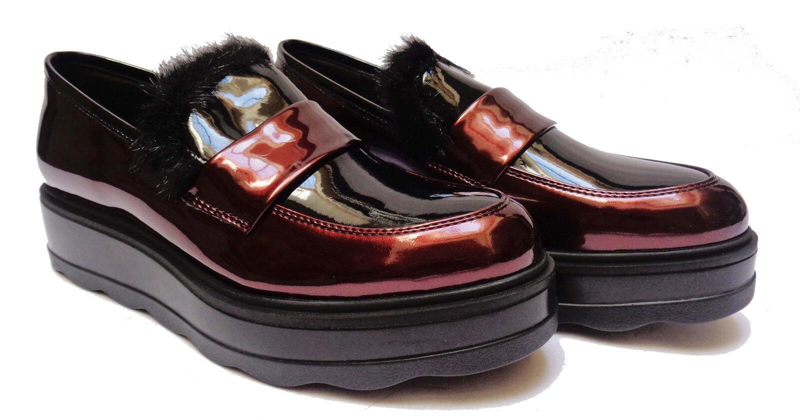 Schuhe DA Damens CINZIA SOFT COMODA LINEA COMODA SOFT MOCASSINI IN VERNICE BORDO' ZEPPA CM. 4 1345c5