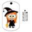 For Geocaching Unactivated Travel Bug Trackable Tag Wilma the Witch