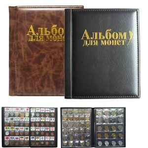 Marrone 250 tasche 10 pagine Album di monete Collezione di monete Libro di raccolta di libri Collezione di monete Collezione di monete per la casa