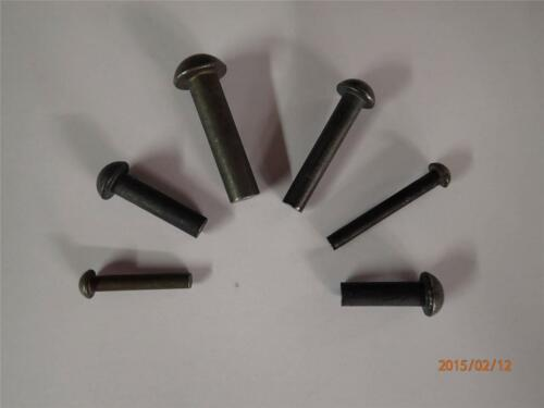 """3//16/"""" x  3//4/"""" Steel round head rivets Pack of 10"""