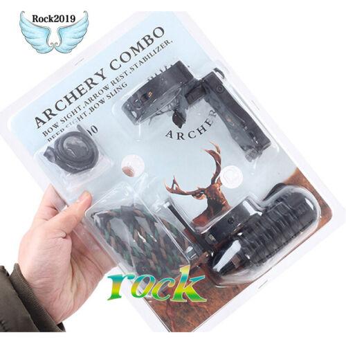1set TP1000 Archery Combo Bow Sight Kits Arrow Rest Stabilizer F hunting Recurve