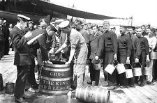 UP SPIRITS ! - RUM RATION ABOARD ROYAL NAVY BATTLESHIP HMS KING GEORGE V c 1947