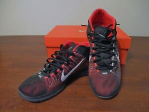newest e748c e2990 Image is loading Men-039-s-NIKE-ZOOM-ASCENTION-Crimson-Black-