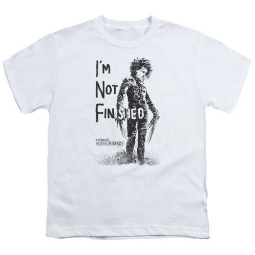 Edward Scissorhands NOT FINISHED Line Art Licensed BOYS /& GIRLS T-Shirt S-XL
