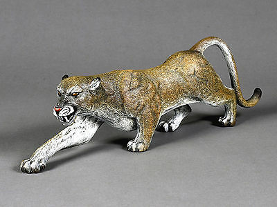 Awesome Bronze Cougar Sculpture by Barry Stein Mountain Lion Signed Limited Edit