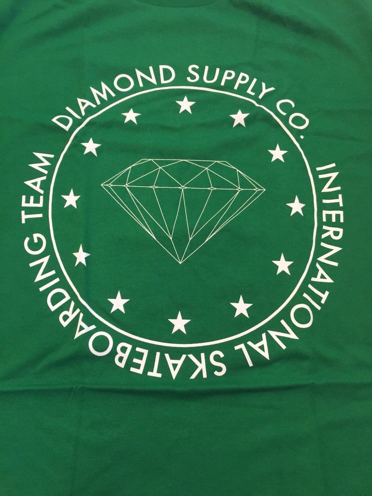 Diamond Supply Co. International Team Tee s/s Kelly Grün Large RARE 2008