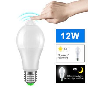 E27 LED Birne Lampe mit Bewegungssensor Bewegungsmelder Leuchtmittel Glühbirne