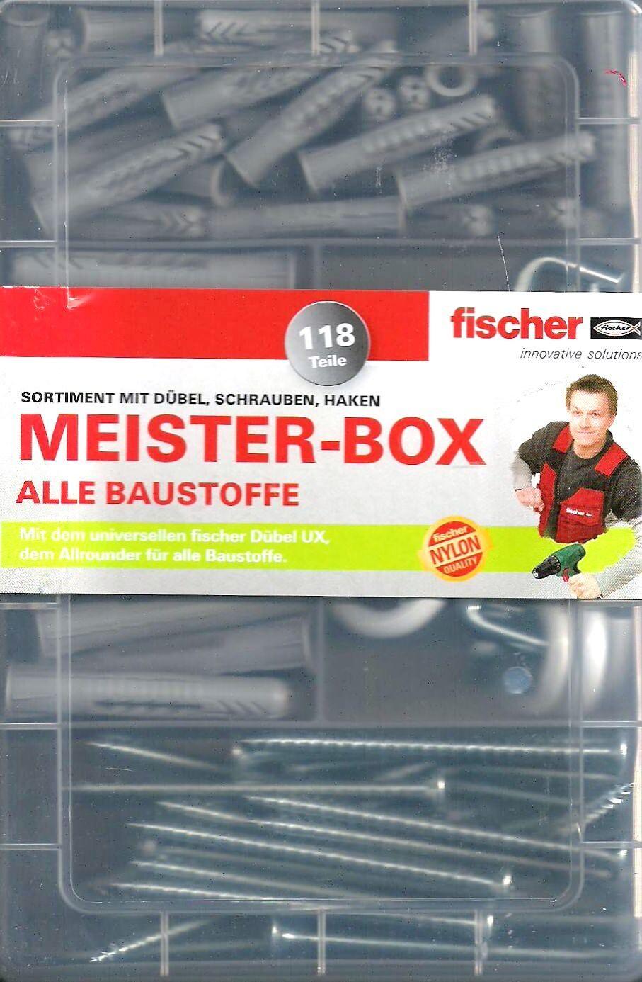fischer Dübel Meister-Box mit UX+Schrauben+Haken