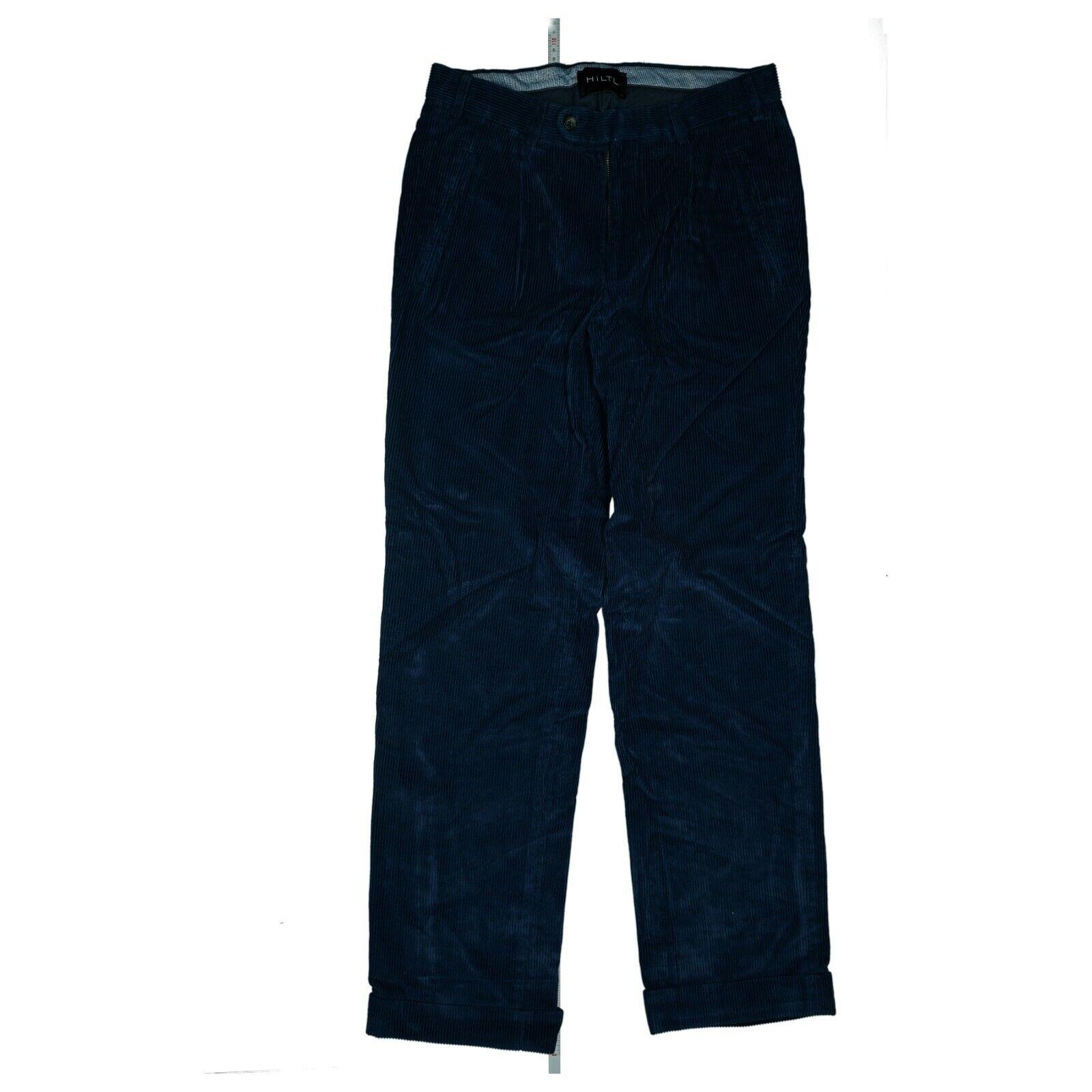 HILTL Herren Classic Fit Jeans Hose Cord Freizeit Gr. 46 W31 L32 dunkel Blau NEU