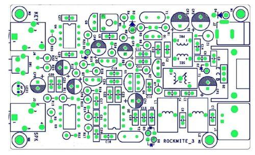 Assembled PIC Super RM Rock Mite QRP CW Transceiver Telegraph HF HAM radio