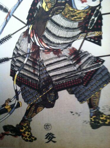 Ishikawa Kazumitsu 22x30 Samurai Hero Japanese Print Art Asian Art Japan Warrior