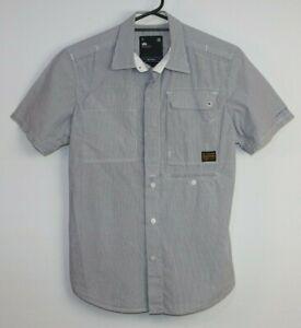 G-Star-Men-039-s-Short-Sleeve-Striped-Shirt-Size-M