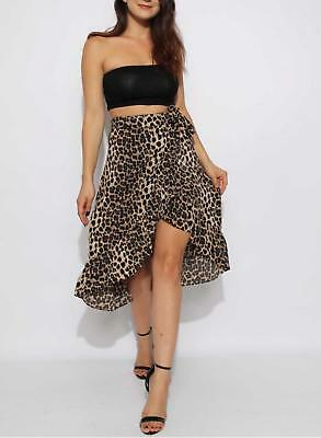 RRP £39.99 Snakeskin Wrap Frill Midi Skirt