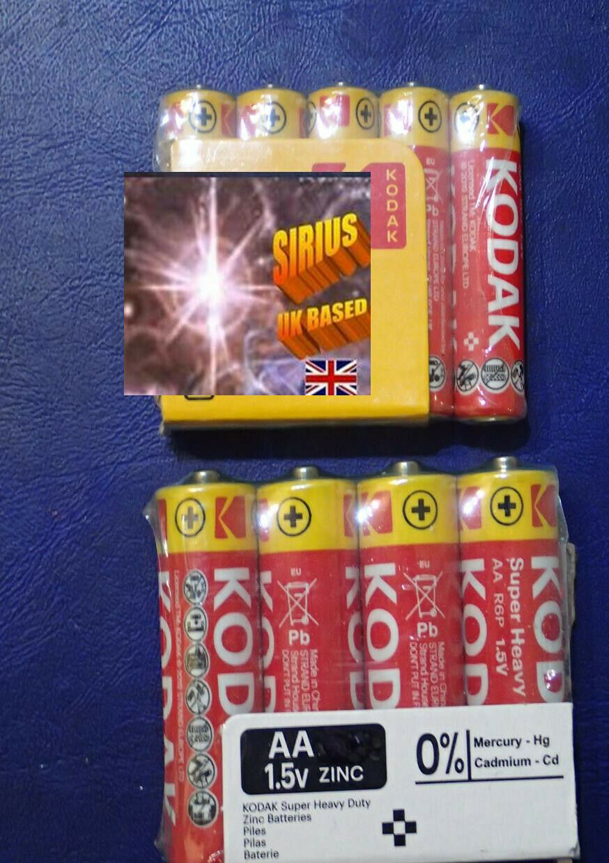 @ Handy double pack 5 aa / 5 aaa battery set free post
