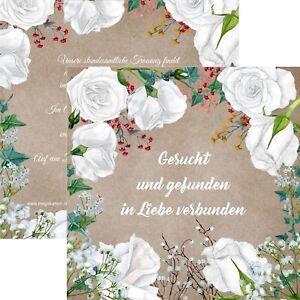 Einladungskarten Hochzeit Hochzeitskarten Vintage Rustikal Weisse