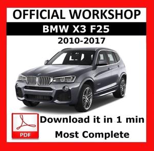 official workshop manual service repair bmw series x3 f25 2010 rh ebay com 2004 bmw x3 car manual bmw x3 2006 car manual