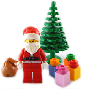 NEW-LEGO-SERIES-8-SANTA-CLAUS-MINIFIG-TREE-amp-PRESENTS-Christmas-minifigure-8833