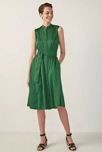 Sold-Out-TRENERY-SLEEVELESS-GATHERED-SHIRT-DRESS-BNWT-Sz14-RRP-169