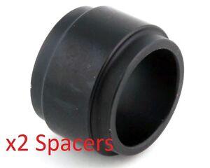 2 Black 25mm x 25mm Alloy Wheel Spacers Prokart Cadet  UK KART STORE