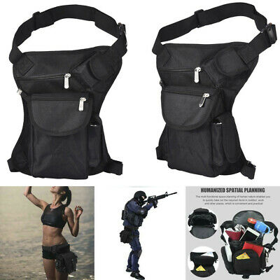 Waterproof Drop Leg Bag Motorcycle Tactical Hiking Thigh Waist Fanny Pack Pouch