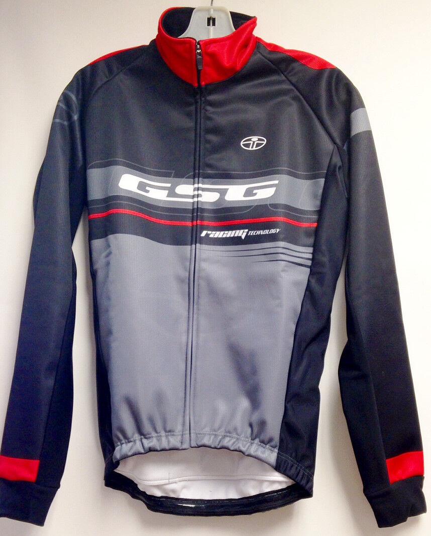 Equipo windtex  a prueba de viento térmico chaqueta de ciclismo (rojo gris) Hecho en Italia por Gsg  80% de descuento