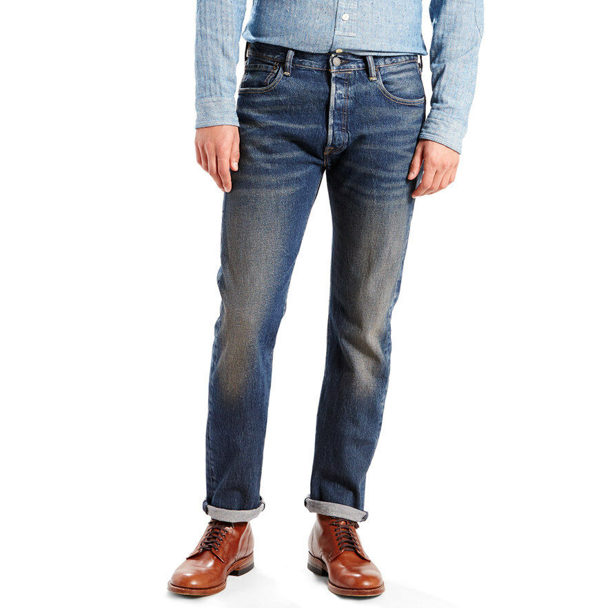 480a9659 Men's Levi's 501 Straight Leg Button Fly Stretch Jeans Size 32 X 30 ...