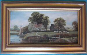 TABLEAU-ANGLAIS-HUILE-SUR-TOILE-SIGNE-034-Edward-PRIESTLEY-034-Artiste-cote