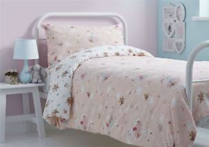 BALLET-DANCERS-FLORAL-BUNCHES-PINK-COTTON-BLEND-SINGLE-DUVET-COVER
