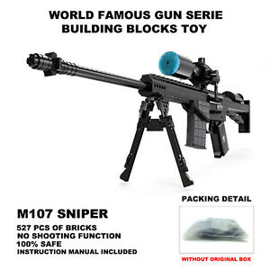 Details about Ausini Gun Toy,Top Gun Series,M107 Sniper Gun Model,Static  Building Blocks Toys