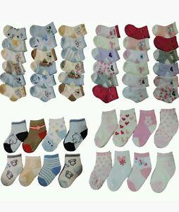 new concept efe49 da3c1 Details zu 12 PAAR Mädchen Baby Socken 16 17 18 19 20 21 Größe Babysocken  Säugling Baumwoll