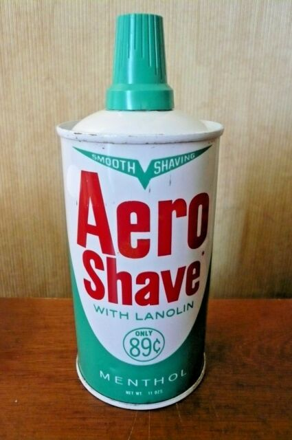 VINTAGE AERO SHAVE - JET AGE - 1950's - FULL CAN - GREAT GRAPHICS - NOS