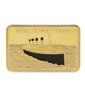 Commemorative-Coins-Collection-For-Souvenir-Tragedy-Of-The-Titanic-1912-Golden