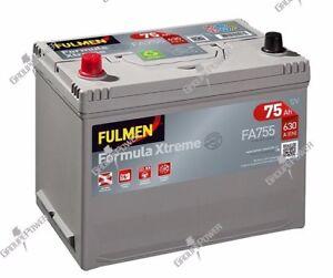Batterie-Fulmen-FA755-12v-75ah-630A-E23-570412063-DAIHATSU-CHARADE
