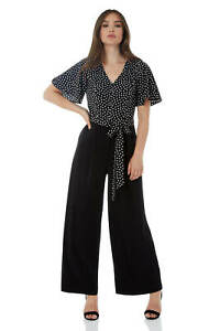 84fc7518c54 Details about Roman Originals Women s Spot Angel Sleeve Jumpsuit Sizes 10-20
