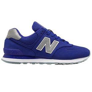 Details about New Balance 574 Classic Traditionnels Blue Purple Men's Low Top Trainers