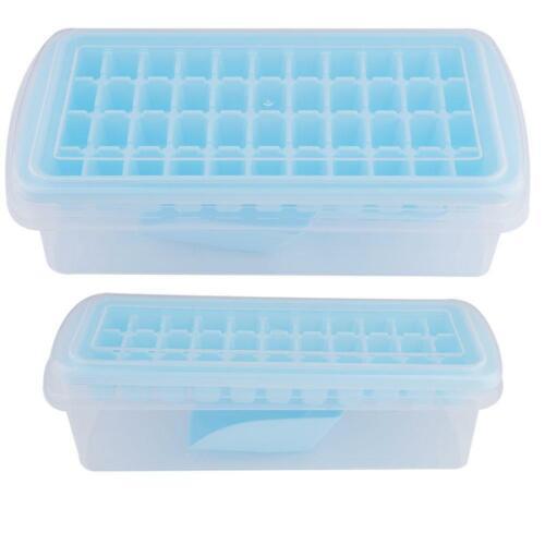 Bac à glaçons carré Ice Maker Mold container plateau pour cocktail whisky avec couvercle