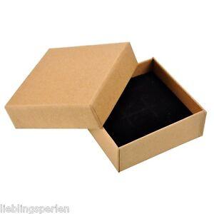 LP-1-Schmuckbox-Schmucketui-Schachtel-Geschenkbox-Gelbbraun-9cmx9cm