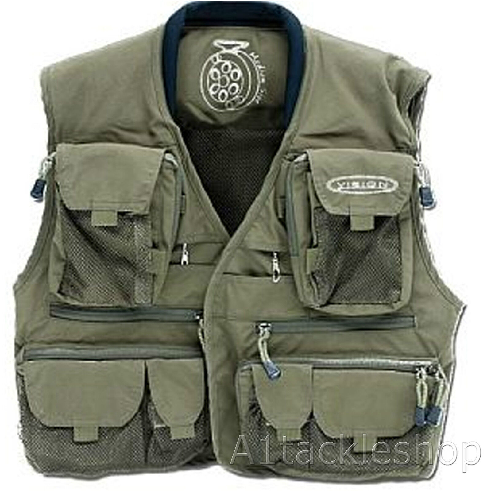 Vision Caribou Fly Fishing Vest in Dark Olive