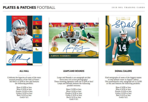 2018-PANINI-PLATES-AND-PATCHES-FOOTBALL-PICK-YOUR-PLAYER-PYP-1-BOX-BREAK-3