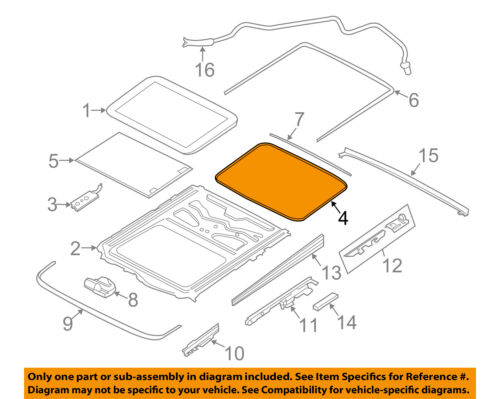 BMW OEM 08-16 X6 Sunroof-Weatherstrip Seal 54107245551