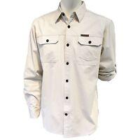 Field & Stream Men's Brushed Poplin Button-down Shirt Color: Ecru (l)-(xxl)